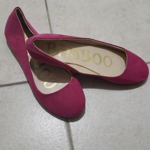 NWOT Bamboo Pink Faux Suede Ballet Flat